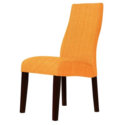 Haddonfield Shaped Back Parsons Chair Upholstery: Orange