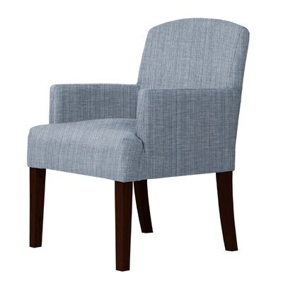 Larose Luxury Cotton Arm Chair Upholstery: Blue