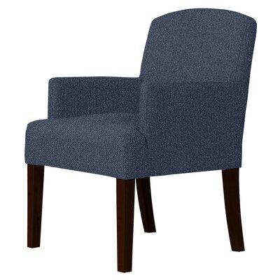 Larose Hardwood Framed Arm Chair Upholstery: Blue