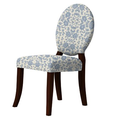 Lashley Flower-Print Side Chair Upholstery: Blue