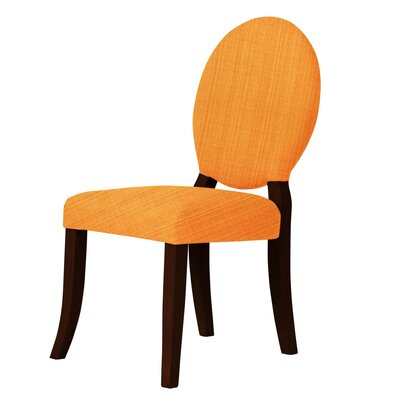Lashley Upholstered Dining Chair Upholstery: Orange