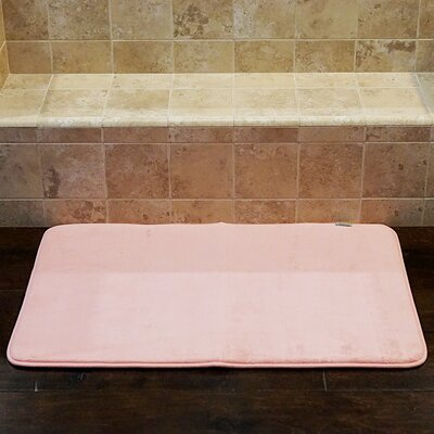 Bath and Shower Mat Color: Pink, Size: 34 L x 21 W