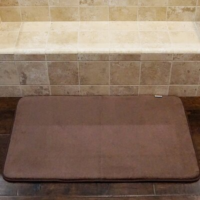 Bath and Shower Mat Color: Chocolate, Size: 34 L x 21 W