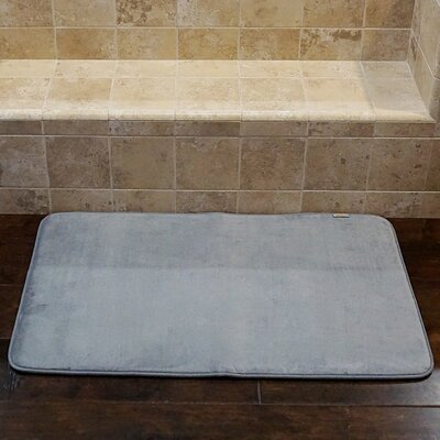 Bath and Shower Mat Color: Gray, Size: 24 L x 17 W