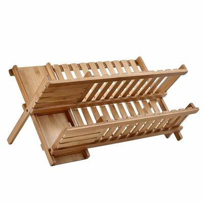 Bamboo 2-Tier Dish Rack