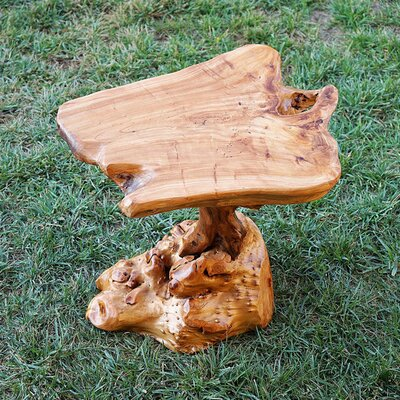 Handmade Natural Wood Indoor/Outdoor End Table