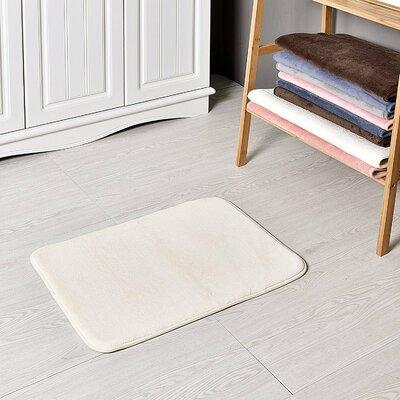 Bath and Shower Mat Color: Cream, Size: 24 L x 17 W