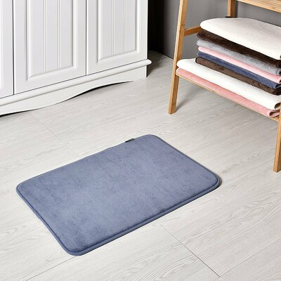 Bath and Shower Mat Color: Blue, Size: 24 L x 17 W