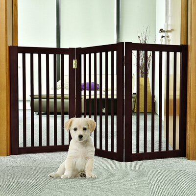 Wood Free Standing Folding Pet Gate