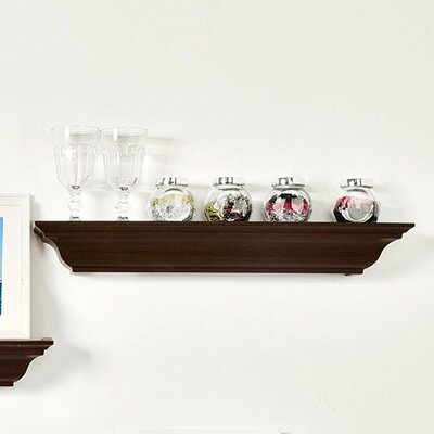 Traditional Crown Molding Floating Shelf Finish: Espresso, Size: 3