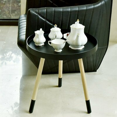 Valazquez Round Coffee Table Color: Black