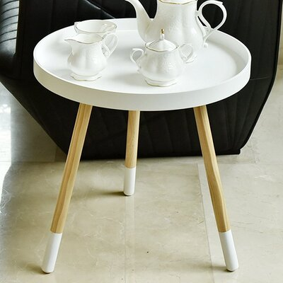 Valazquez Round Coffee Table Finish: White