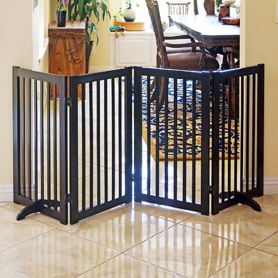 Grimm Freestanding Wood Pet Gate Finish: Espresso
