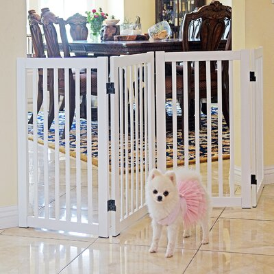 Grimm Freestanding Wood Pet Gate Finish: White
