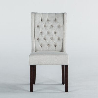 Florence Lillian Side Chair (Set of 2) Upholstery: Linen - Off-white