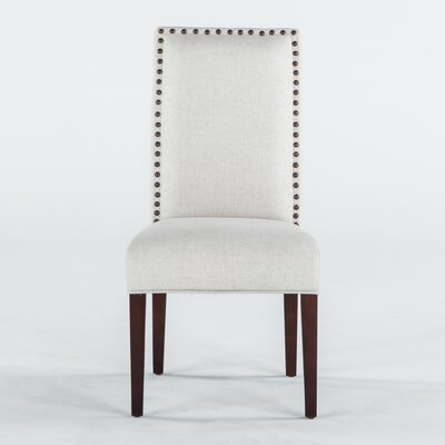 Jona Side Chair Upholstery: Off White, Leg Finish: Espresso