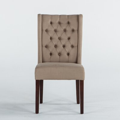 Florence Lillian Side Chair (Set of 2) Upholstery: Linen - Sand