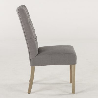 Florence Claire Side Chair (Set of 2) Upholstery: Linen - Gray