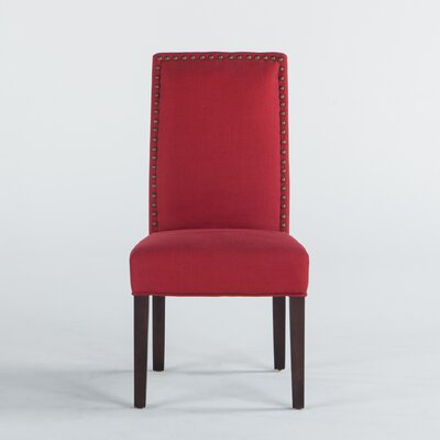 Jona Side Chair Upholstery: Red