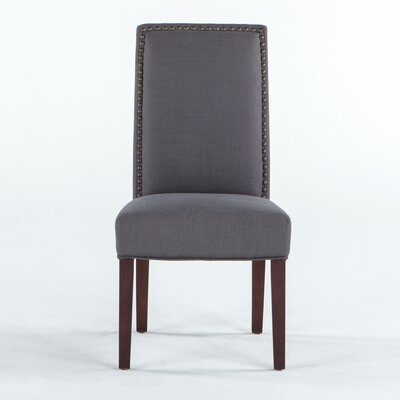 Jona Side Chair Upholstery: Gray, Leg Finish: Espresso