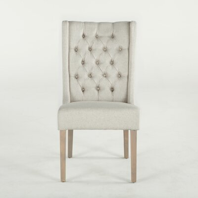 Chloe Side Chair (Set of 2) Upholstery: Off White