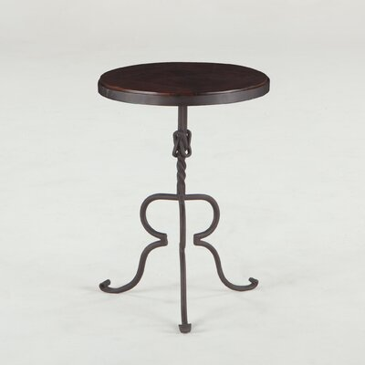 Artezia Reclaimed Neem Wood and Iron End Table