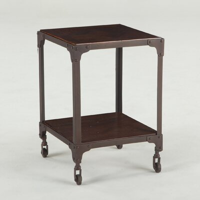 Artezia Teak Wood and Iron End Table