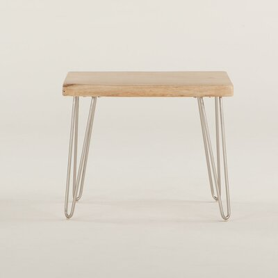 Grandby Acacia Live Edge End Table Color: Natural