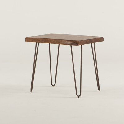 Grandby Acacia Live Edge End Table Finish: Walnut