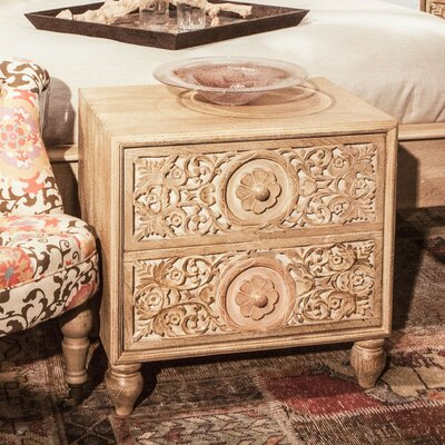 Haveli 2 Drawer Nightstand