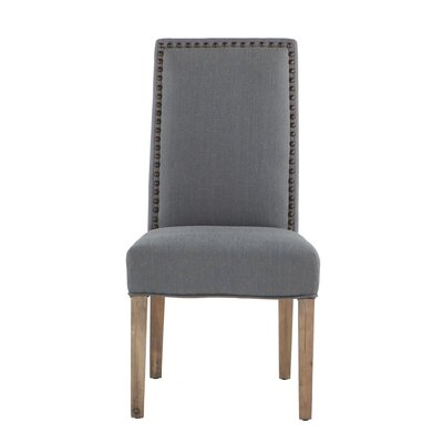 Jona Side Chair Upholstery: Gray, Leg Finish: Walnut