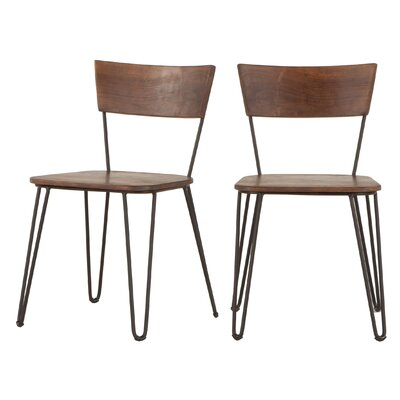 Grandby Solid Wood Dining Chair (Set of 2) Color: Brown