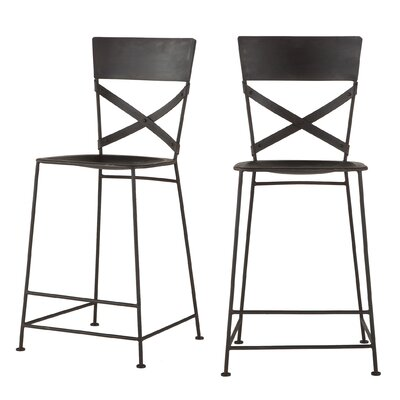 Artesia 30 Bar Stool Color: Black