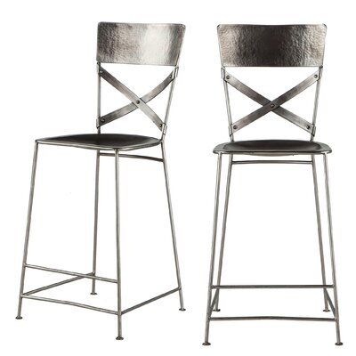 Artesia 30 Bar Stool Color: Nickel