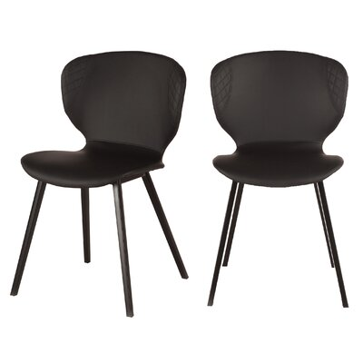 Retro Dining Chair (Set of 2) Color: Black