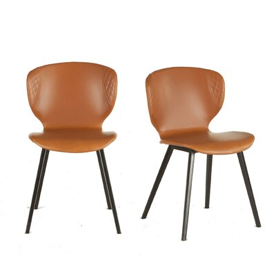Retro Dining Chair (Set of 2) Color: Tan