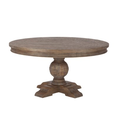 Chatham Downs Weathered Teak Dining Table Size: 30 H x 54 W x 54 D