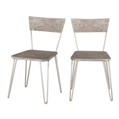 Grandby Solid Wood Dining Chair (Set of 2) Color: Gray