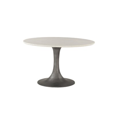 Marble and Steel Dining Table
