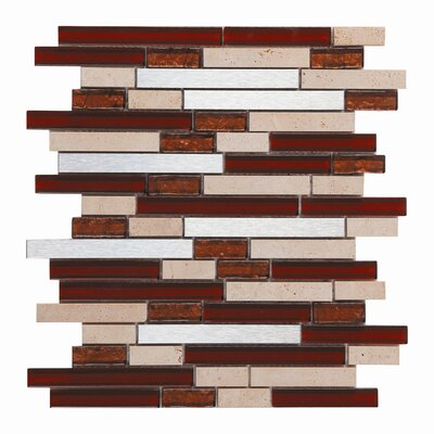 Upscale Design Random Sized Glass and Natural Stone Mosaic Tile in 3 Color Blend