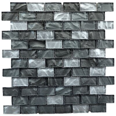 Upscale Designs Glass and Natural Stone Mosaic Tile in Gray