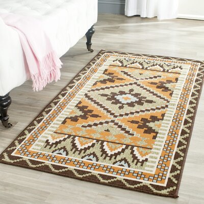 Henbury Brown Indoor/Outdoor Area Rug Rug Size: Rectangle 27 x 5