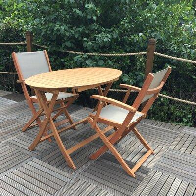 2-Sitzer Balkonset Adriene Eclipse | Garten > Balkon > Balkon-Sets | Braun | Garten Living