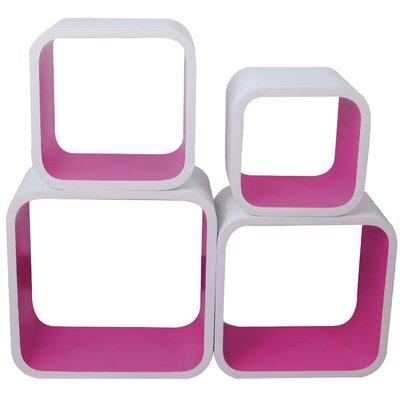 Würfelregal-Set Cubic | Wohnzimmer > Regale > Regalwürfel | Whitepurple | Holz - Teilmassiv - Mdf | ChâteauChic
