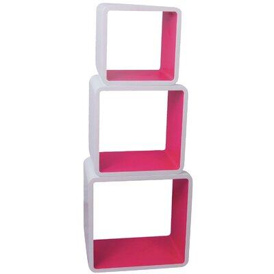 Würfelregal-Set Cubic | Wohnzimmer > Regale > Regalwürfel | Pink | Hochglanz - Holz - Teilmassiv - Mdf | ChâteauChic