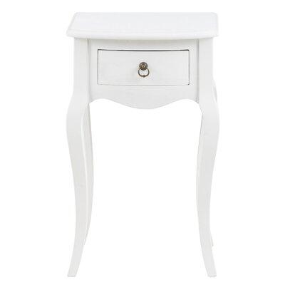 Nachttisch mit Schublade | Schlafzimmer > Nachttische | Weiß | All Home