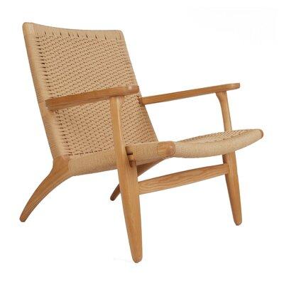 Billiot Lounge Chair Color: Natural, Size: 30 H x 22 W x 23 D