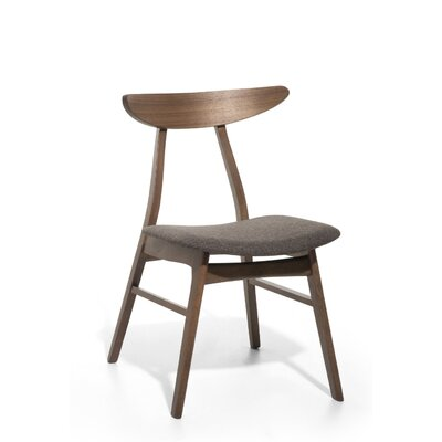 Leia Upholstered Dining Chair Color: Gray