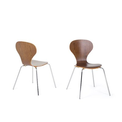 Kailen Dining Chair Color: Brown