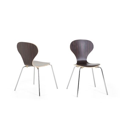 Kailen Dining Chair Color: Dark brown